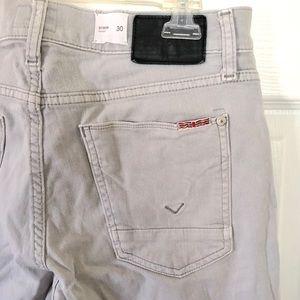 Hudson Byron straight leg Lt. Grey jeans sz. 30